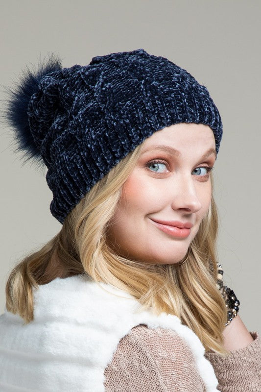 Luxury Chenille Pom Hat