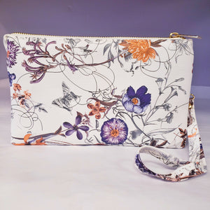Floral Prints Wristlet/Crossbody