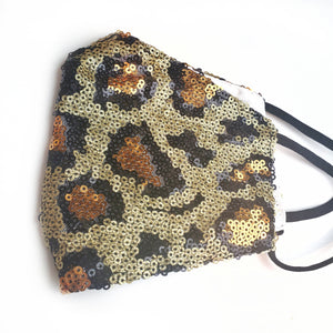 Leopard Sequin Face Mask