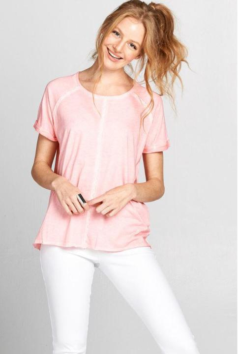 Soft Pink Cotton Tee