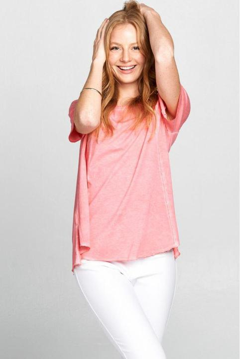 Coral Cotton Tee