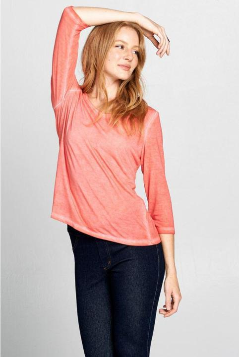 Coral Heather V Neck