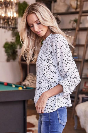Lets Polka Dot Top