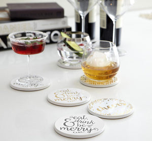 Cheers Ceramic Coasters 4pk