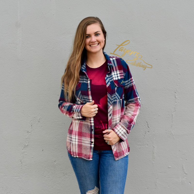 Kenz Ombre Flannel