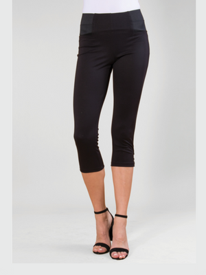 Ponte Cropped Button Pant