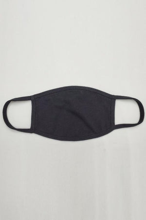 BLACK DOUBLE LAYER FASHION FACE MASK
