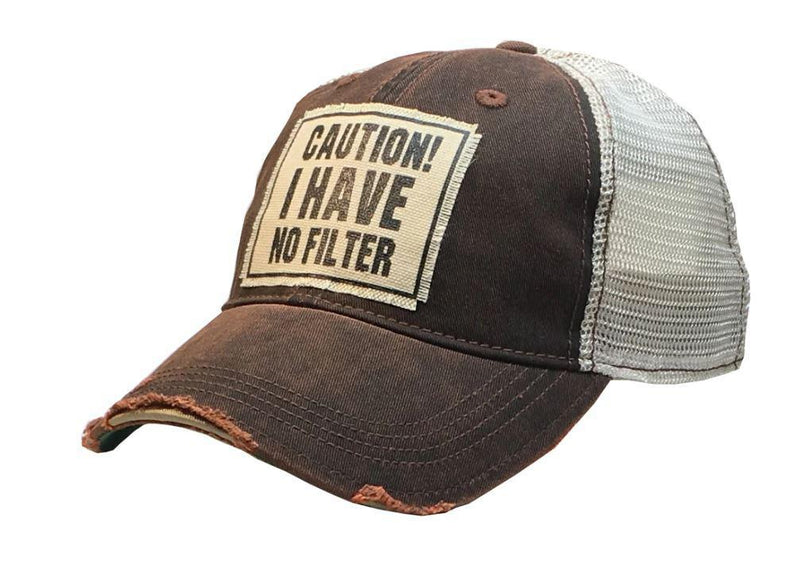 Caution No Filter Hat