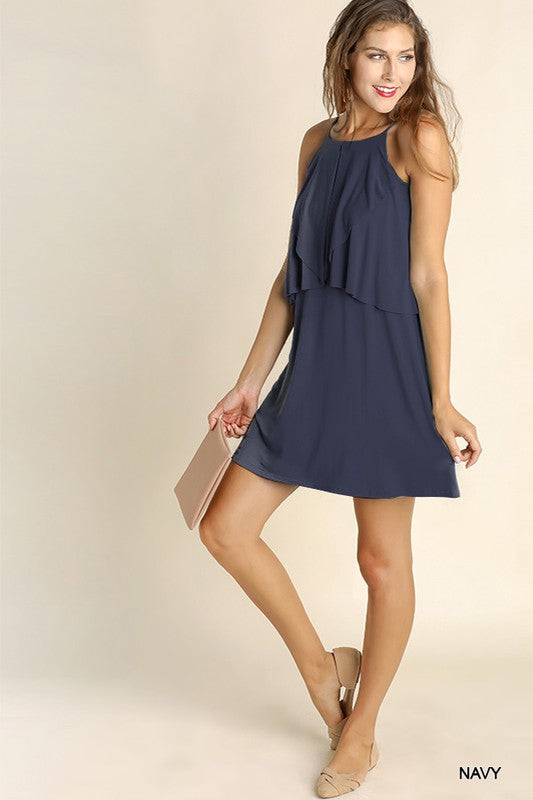 Summertime Ruffle Tank Dress