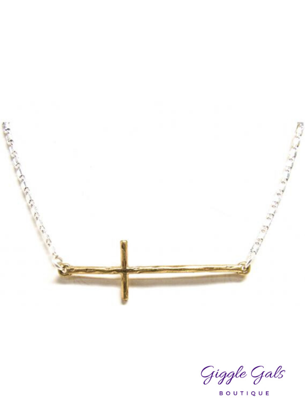 Two Tone Sideways Cross