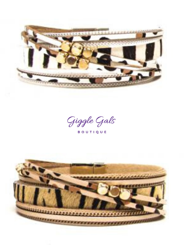 Magnetic Closure Mixed Animal Wrap Bracelet