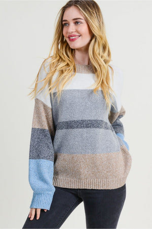 Blue Stripe Pullover