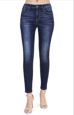 Grace In LA Dark Wash Easy Fit Skinny