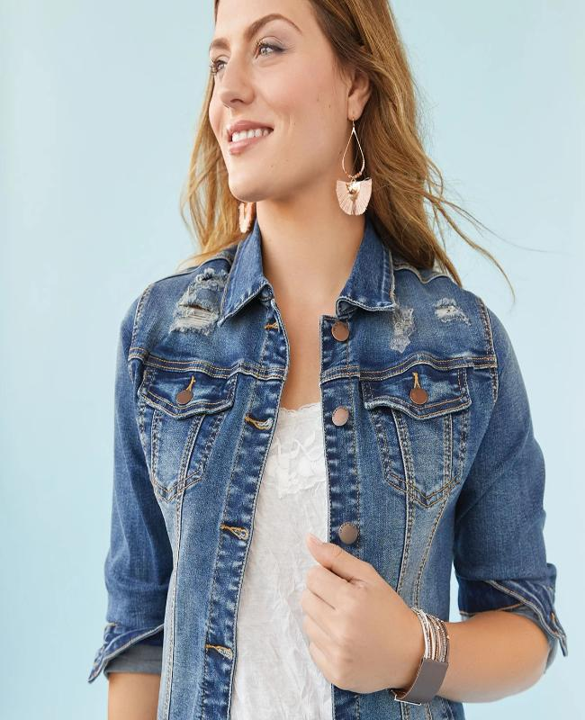 OMG Distressed Denim Jacket