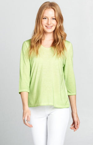 Lime Heather V Neck