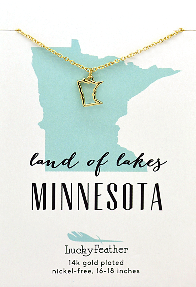 MN State Necklace