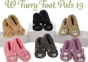 Snoozies Furry Foot Pals Slippers