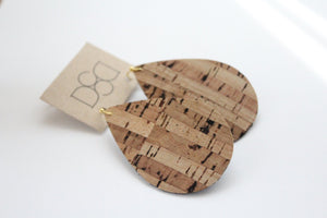 Tan Cork Earrings