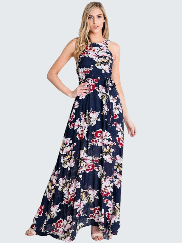 Everlove Floral Print Maxi Dress