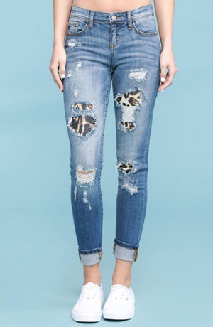 Judy Blue Leopard Patch Jean