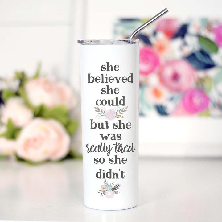 Tall Travel Cup She Believed