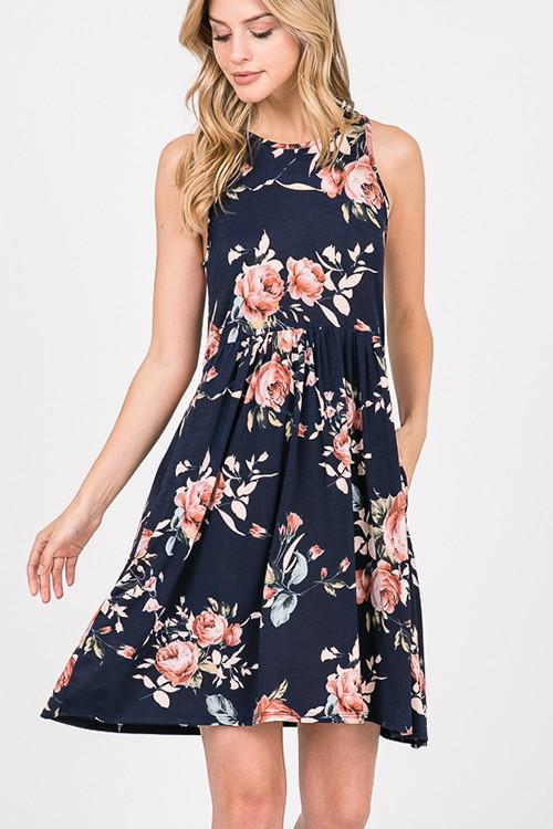 Tiffany Floral Tank Dress