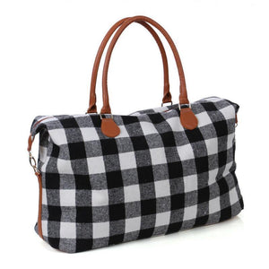 Buffalo Plaid Travel Bag