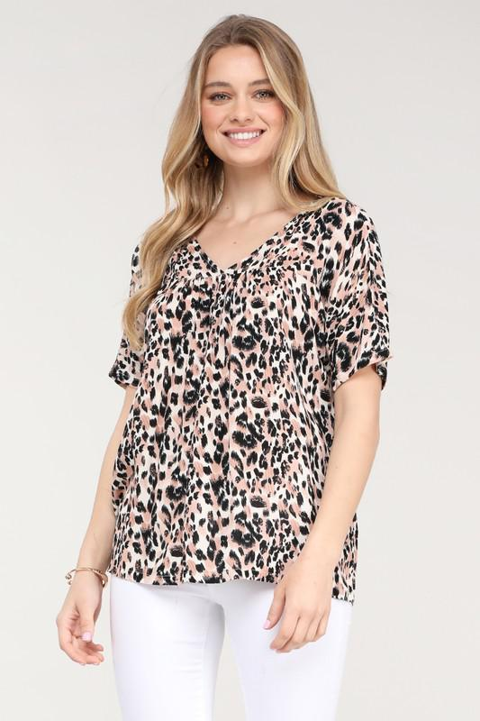 Heyden Animal Print Top