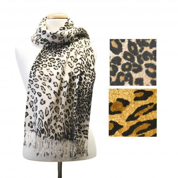 Leo Print Light Scarf