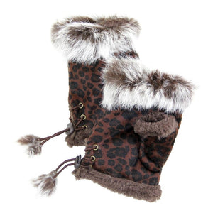 Fingerless Gloves Leopard