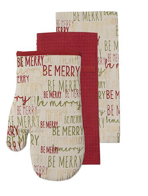 Be Merry 3pc Mitt & Towel Set