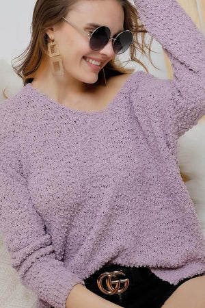 Long Sleeve Lavender Sweater