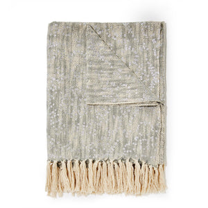 Silver Metallic Throw Blanket