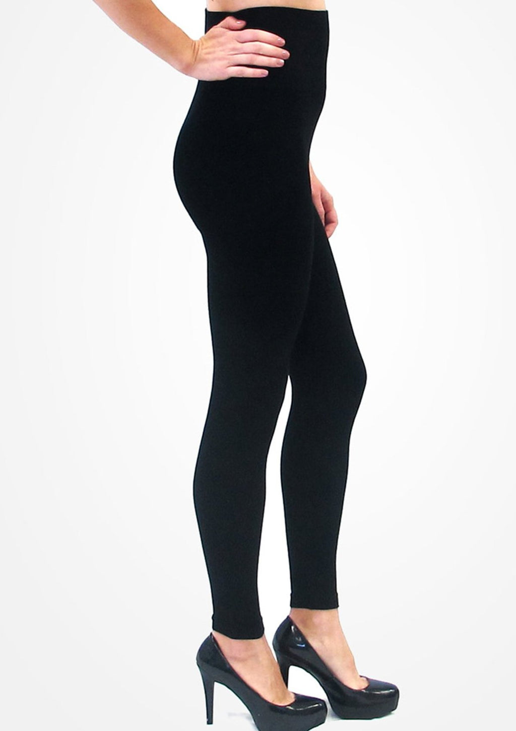 Elietian Black High Waisted Leggings