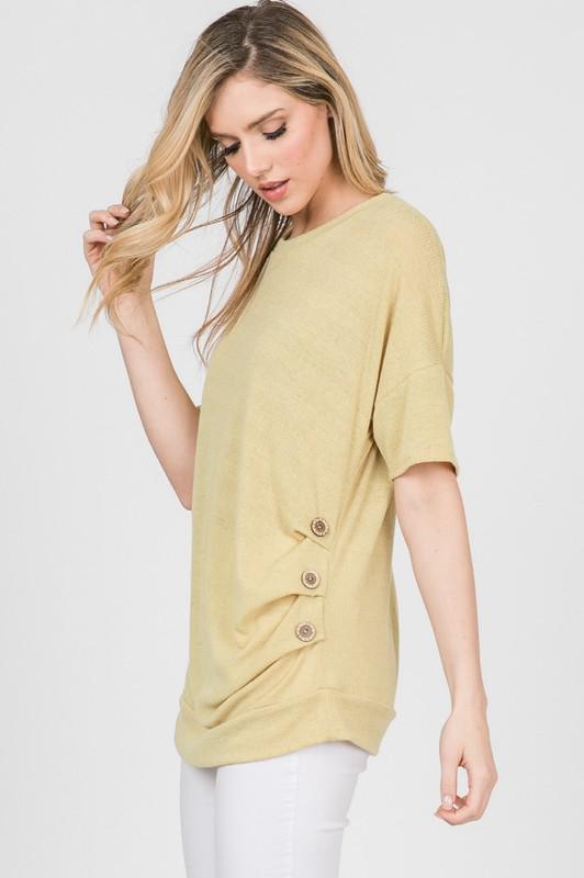 Mustard Button Short Sleeve