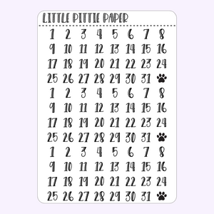 F029 - Date Dots on Clear Sticker Paper