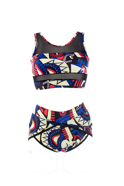 Shyfull Charming Printed Two-piece Swimwear