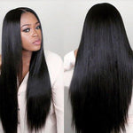 Shyfull  Natural Looking Straight Long Black Wigs