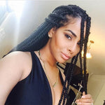 Shyfull African Black Braid Wigs
