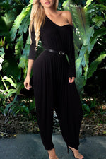 Shyfull Casual One Shoulder Jumpsuit