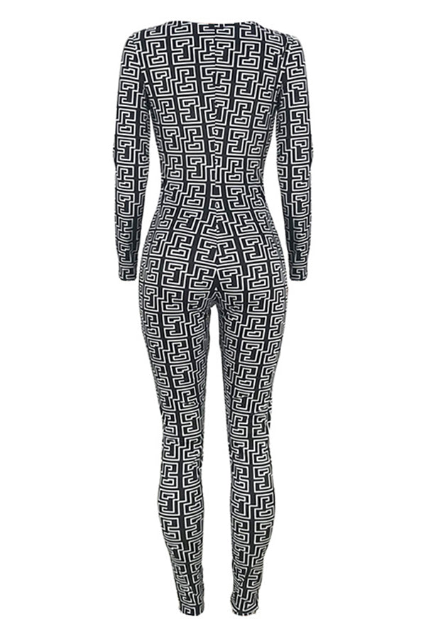 Shyfull Stylish Geometric Printed Jumpsuit