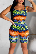Shyfull Leisure Printed Multicolor Romper