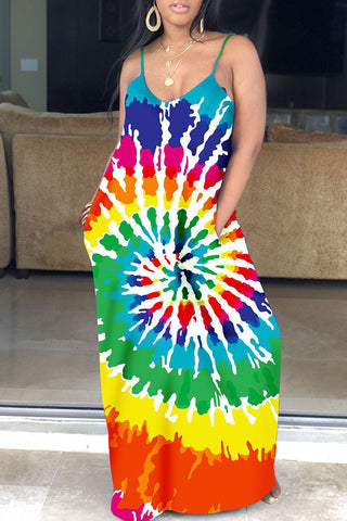 Shyfull Leisure Printed Floor Length Dress