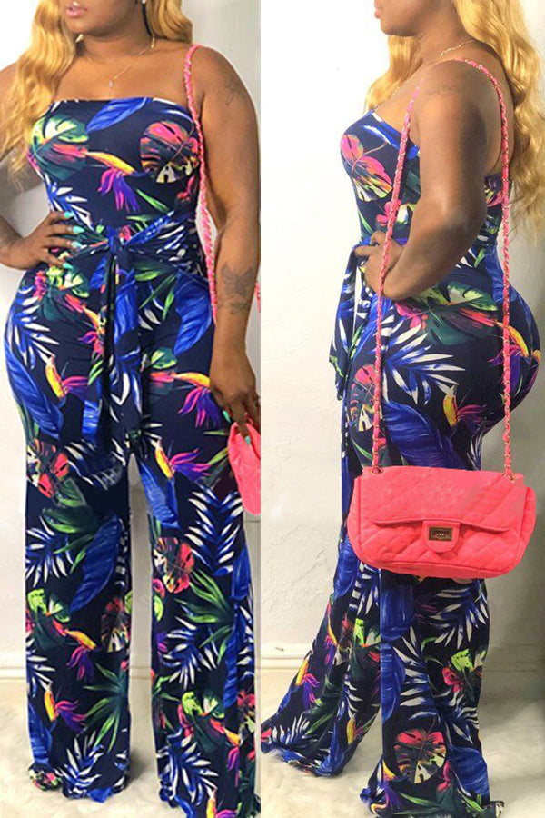 Shyfull Stylish Off The Shoulder Printed  Jumpsuit