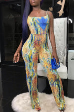 Shyfull Sexy Snakeskin Pattern Printed  Jumpsuit