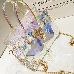 Shyfull Fashion See-through  PU Crossbody Bag