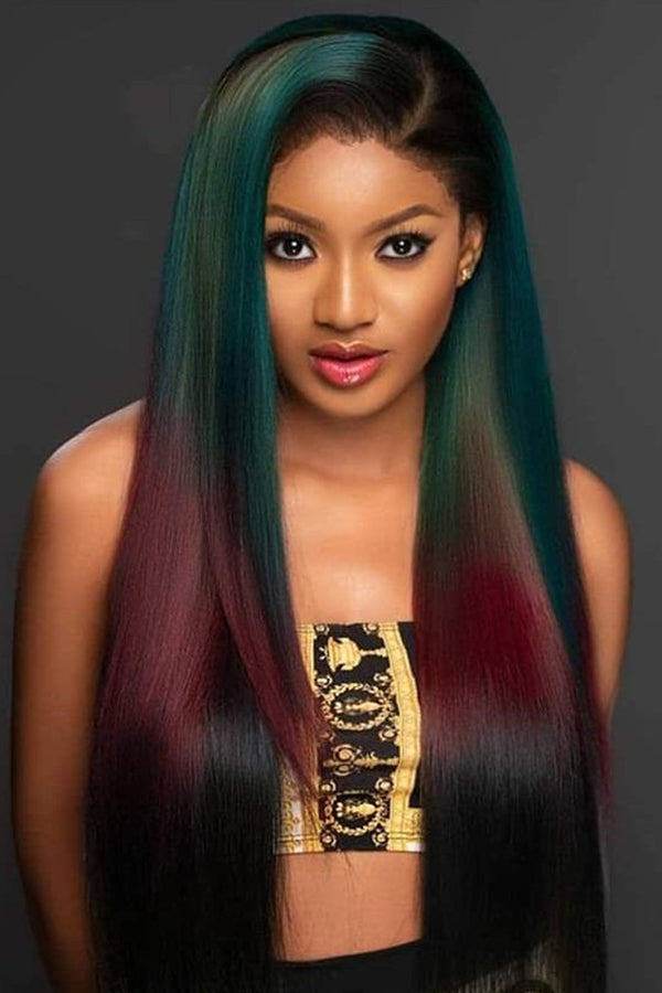 Shyfull Trendy Long Straight Multicolor Wigs