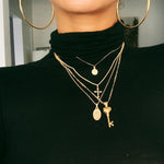 Shyfull Trendy Layered Gold Necklace