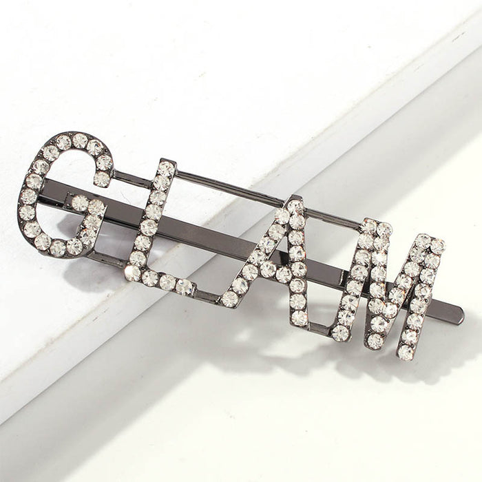 Shyfull Chic Letter Printed Silver Hairpin