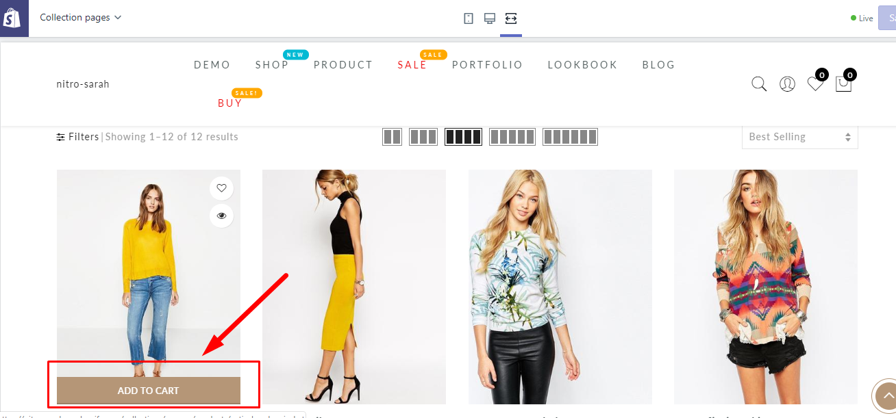 """How to hide """"Add to cart"""" button on Collection Page & Home page"""